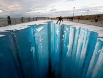 Ледяная пропасть на асфальте фото-4