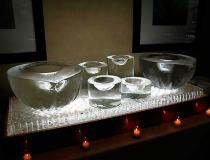 Посуда изо льда для подачи напитков