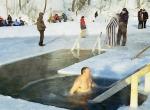 Фото ледяного оформления Крещенских купаний - 4