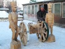 Наши деревянные скульптуры. Фото-23