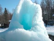 Начало формирования ледяного столба