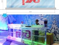 Ледяной бар с логотипом РЖД