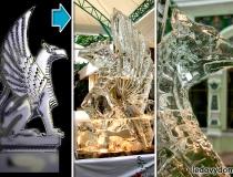 Ледяная скульптура Грифон