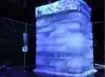 Куб собран из ледяных блоков