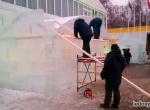 Ледяные избушки для парка Сокольники фото-2