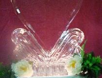 Ледяное сердце для украшения стола. Фото-2