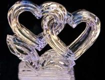 Ледяное сердце для украшения стола. Фото-3