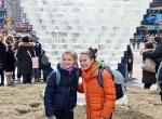 Сердце изо льда на Таймс-сквер