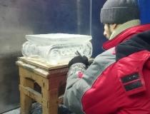 Изготовление ледяной капители