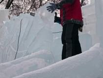 Скульптурные работы на ледяном комплексе фото-1