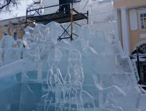 Скульптурные работы на ледяном комплексе фото-3