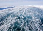 Толщина льда на дороге 125 см