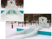 Фото ледяных горок для маленьких детей -2