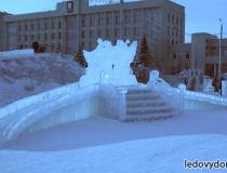 Фото ледяных горок для маленьких детей -5