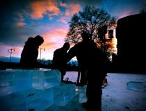 Процесс создания ледяной стены - 3