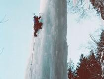 Клык изо льда в горах Колорадо фото-5