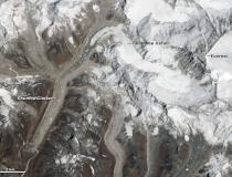 Расположение ледопада Кхумбу