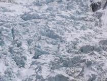 Стоянка альпинистов у подножия ледопада