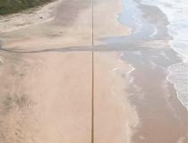 Концептуальные рисунки на песке