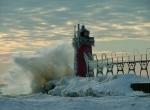 Маяки - ледяные статуи фото-13