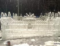Ледяной замок в клубе Лужки