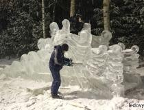 Процесс нанесения резьбы на ледяную горку