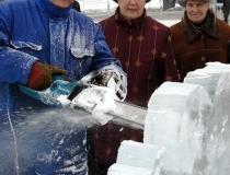 Ледяные скульптуры на масленицу - 3