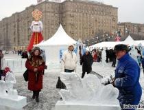 Ледяные скульптуры на масленицу - 4