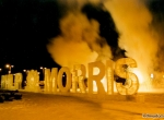 Фото ледяной надписи Philip Morris - 2
