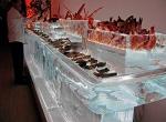 Ледяное оформление угощений из морепродуктов