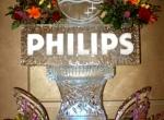 Логотип PHILIPS вписанный в ледовое оформление