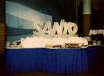 Ледяной логотип Sanyo для интерьера