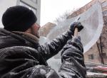 Доработка скульптуры стамеской для льда