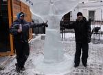 Ледяная скульптура для ресторана Рыбка