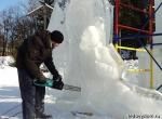 Процесс изготовления ледяной скульптуры 400 лет Дому Романовых - фото - 4