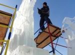 Процесс изготовления ледяной композиции 400 лет Дому Романовых - фото - 5