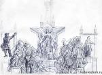 Эскиз ледяной композиции 400 лет Дому Романовых