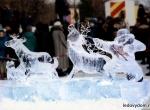 Украшение города фигурами изо льда - 7