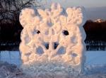 Городские скульптуры изо льда-2