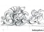 Эскиз для банкетной скульптуры