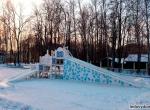 Ледяные горки на деревянном каркасе фото-1