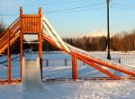 Ледяные горки на деревянном каркасе фото-3