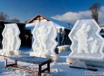 Олимпийские талисманы изо льда фото-1