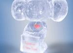 Ледяной подарок для дня Всех Влюбленных