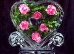 Прекрасный подарок ко дню Святого Валентина изо льда
