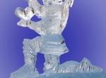 Колено преклонный рыцарь изо льда