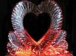 Ажурное ледяное сердце для подарка