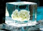 Ледяное украшение стола ко дню Святого Валентина - 1