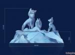 Ледяная группа волки -3 (Эскиз)