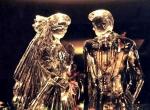 Фото свадебной ледяной скульптуры -1